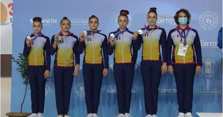 România, vicecampioană europeană la gimnastică