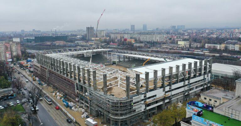 Stadionul Rapid prinde contur! Imagini superbe cu stadiul lucrărilor